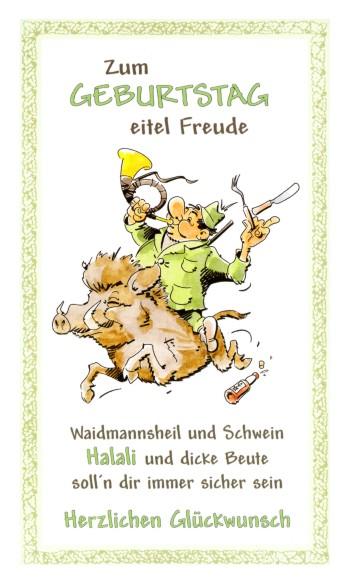 Geburtstagskarte Fur Jager