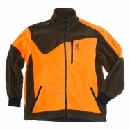 Browning Powerfleece Jacke in Grün/Orange